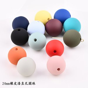 Wholesale New colorful round acrylic Spray paint Materials beads diy handmade charms clothing headdress hair jewelry accessory