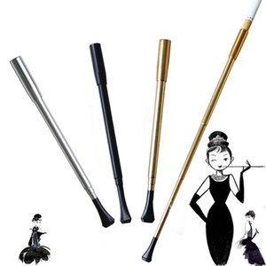 Wholesale Ladies Long Rod Retractable Vintage Cigarette Holder Pipe Cigarette Holder Long Pipe Duct Party Favor Smoking Accessories
