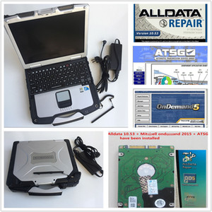 2019 hot sale alldata V10.53 and mitch*ll v5.8 ATSG repair soft-ware and Panasonic Toughbook CF30 CF-30 Laptop free shipping