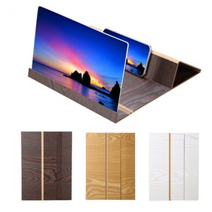 Wholesale 12inch wooden Mobile Video Screen Magnifier High Definition Mobile Phone Screen Amplifier with Wood Grain Stand Anti radiation
