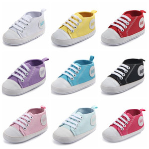 Baby Canvas First Walker Shoes Infant Sole Moccasin First Walker Girl Casual Non-slip Shoe Newborn Fashion Shoes Toddler Prewalker D5536