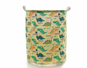 Wholesale Cartoon Dinosaur Laundry Hamper Storage Bin Baskets Ocean Animal Foldable Laundry Basket for Organizing Kids Toy Bin Closet  Shelf Baskets