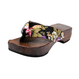 Wholesale wood clog shoes resale online - Women Shoes Summer Sandals Platform Shoes Wood Women Sandals Clog Wooden Slippers Flip Flops Casual Beach Shoes For Ladies Women