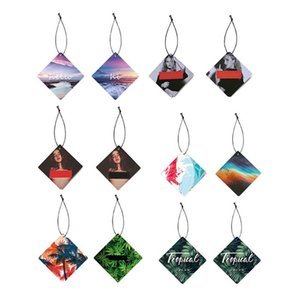 Wholesale Colorful Styling Hanging Car Solid Perfume Papers Car Interior Decoration Air Freshener Mirror Auto Ornaments