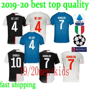 Wholesale Cristiano Ronaldo jersey 2020 Top Football shirts Mandzukic Chiellini Ramsey De Ligt Ronaldo Dybala soccer jerseys uniform Maillot de foot