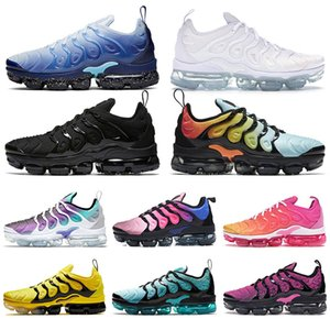 new arrival 2019 men sneakers TN Plus Mens Running Shoes Bumblebee Tripler Black Golden White Hyper Violet Betrue Grape Womens Trainers on Sale