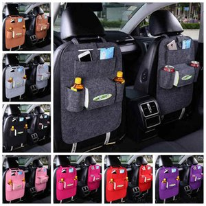 Wholesale Car Back Seat Storage Bag Auto Car Seat Multi Pocket Organizer Holder Bottle Box Magazine Cup Phone Bag Backseat Organizer HHA46