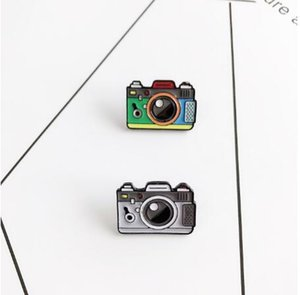 Wholesale Cartoon Camera Brooches For Women Color Rainbow Digital Camera Enamel Pins Coat Cap Backpack Photography And Kids Badge Gifts