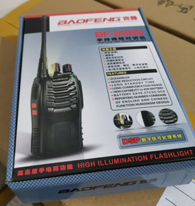 Wholesale 2 Piece BAOFENG BF-888S Walkie Talkie UHF 400-470MHz 5W 16 Channel VOX Flashlight Scan Monitor Voice Prompt Single Band Two Way Radio A7154A
