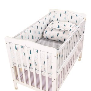 Wholesale 3pcs to Cotton Baby Bedding Set Green Tree Design Cotton Baby Bed Linens Cot Bumper