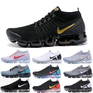 Wholesale 2019 TN Running Shoes Mens New Fly 2.0 3.0 Knit Triple Black White Designer Shoes Be True Mesh Sneakers 36-45 J77