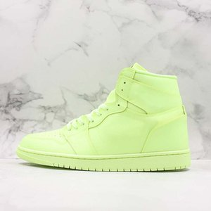 Wholesale New Basketball Shoes s Hight Premium Fluorescent Green Lemon Yellow Men Women Fashion Trainer Sneakers Outdoor Designer Shoes