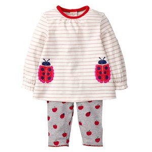 Wholesale Kids Girls Clothing Sets Long Sleeve New Style Brand Baby Girls Clothes Cute T-Shirt+Pant 2Pcs Children Clothes Suits