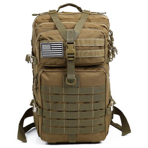 Wholesale bug out bag resale online - 34L Tactical Assault Pack Backpack Army Molle Waterproof Bug Out Bag Small Rucksack for Outdoor Hiking Camping Hunting Khaki
