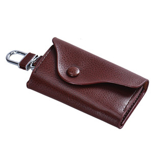 Wholesale Men PU Leather Mini Wallet Car Key Chain Holder Ring Pouch Case Small Pouch Little Bags BW Bolsos Pequenos