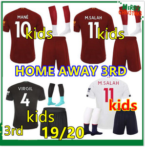 Wholesale Kids 2019 2020 football kits maillot de foot enfants 19 20 soccer jersey kids kit camiseta de fútbol