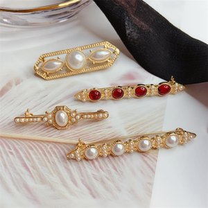 2019 New Vintage Pearl Brooch Baroque Pearl Versatile Brooch Pin Wedding Jewelry Prom Dress Pin for Woman Gifts on Sale
