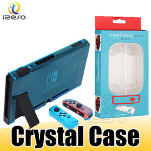 Wholesale switch back resale online - Crystal PC Transparent Case for Nintendo Switch NS NX Cases Hard Ultra Thin Detachable Game Back Cover Shell with Retail Packaging izeso