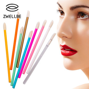 Wholesale disposable lipstick applicators for sale - Group buy 50pcs Disposable Makeup Lip Brush Soft Lipstick Mascara Gloss Wands Applicators Eyelash Cleaner Cleaning Cosmetic Make Up Tools