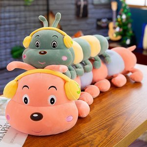 Wholesale 50cm New earphone caterpillar plush toy colorful caterpillar doll Stuffed Animals Toys Baby s Playmate Gifts for Children Kids