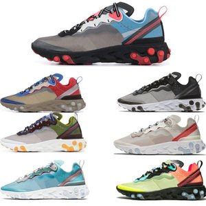 Wholesale New React Element Running Shoes For Men Women Light Bone HYPER Original Peel White Royal Solar Mens Trainers Sports Sneaker Eur36