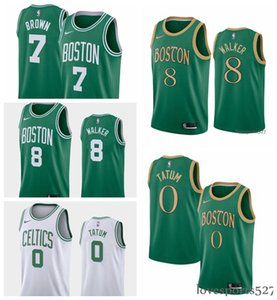 Wholesale Men s Boston Celtics Kemba Walker Jayson Tatum Earned basketball Association City Edition basketball jersey