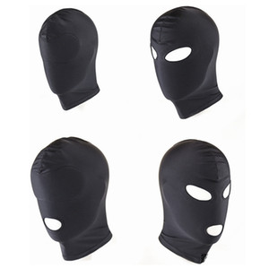 Wholesale New Arrival Adult games Fetish Hood Mask BDSM Bondage Black Spandex Mask Sex Toys For Couples Specifications To Choose C18112701