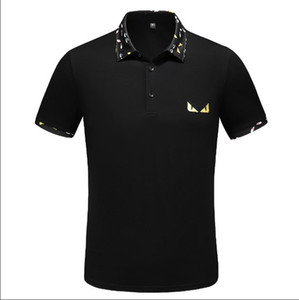 Wholesale 2019 Top free hot sale Spring Luxury Italy Tee T Shirt Designer Polo Shirts High Street Embroidery Garter Clothing Mens Brand Polo Shirt