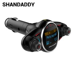 Wholesale BT08 Bluetooth Car Kit Handsfree FM Transmitter Wireless A2DP AUX Audio Car MP3 Player 1.3 Inch LED Screen USB Bluetooth