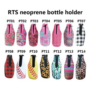 Wholesale Blanks Bottle Wrap Neoprene Beer Cooler Crown Jewel Coral Flamingo Rose Mucho Printing Can Cover Styles LX0332
