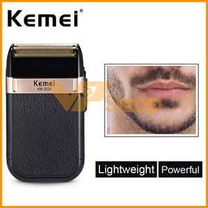 Wholesale Kemei KM Electric Shaver for Men Razors Twins Blade Waterproof Reciprocating Cordless Razor USB Shaving Machine Beard Trimmer