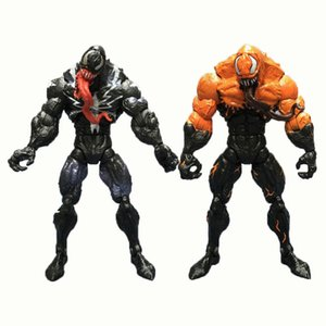 Wholesale 2 Styles Animals Figures Venom Plastic Doll toys cm Avengers Cartoon Game Movable Joint Model Venom Figure Doll L541