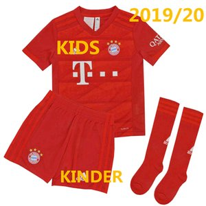 Wholesale FC Bayern Munich Kids Kit Home Red Child Shirt Shorts Socks Set Toddler Boy Girl Football Clothes LEWANDOWSKI München