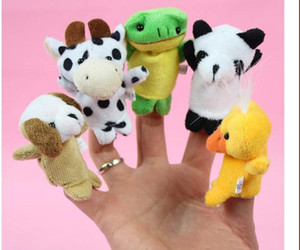Wholesale Even mini animal finger Baby Plush Toy Finger Puppets Talking Props animal group Stuffed Plus Animals Stuffed Animals Toys Gifts Frozen