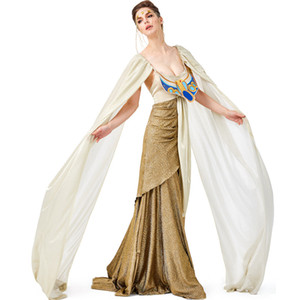 Wholesale Adult Lady Woman Cleopatra Costume Ancient Egypt Egyptian Princess Dress Halloween Gowns