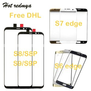 Wholesale 50PCS For Samsung Galaxy S8 S9 Plus S6 S7 Note Edge Front Outer Touch Screen Glass Panel Replacement Part DHL Free