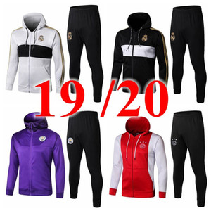 Wholesale 2019 jacket tracksuit training suit de Futbol REAL madrid ajax Bayern man Marseil ronaldo united MBAPPPE LUKAKU city Corinthia