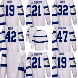 2018 New Adults Toronto Maple Leafs 19 Llupul 21 Van Riemsdyk 32 Leivo 42 Bozak 47 Komarov Blank White Stadium Series Ice Hockey Jerseys on Sale