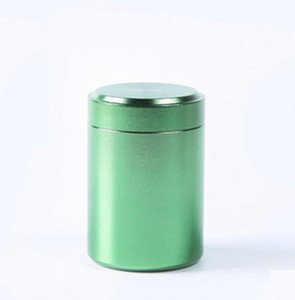 Wholesale Aluminum Jar Tea Tin Box Tea Container Storage Box Cylinder Sealed Coffee Cans x65mm