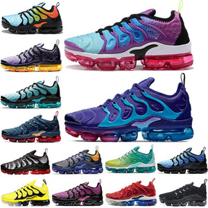Wholesale New Arrival TN Plus Aurora Green Regency Purple Running Shoes TRIPLE BLACK Lemon Lime Spirit Teal Active Fuchsia Women mens trainers sneaker