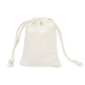 Wholesale Cotton Line Drawstring Pouches cm Flat Gift Bags Candy Jewelry Packing Pouch Handmade Sack Christmas