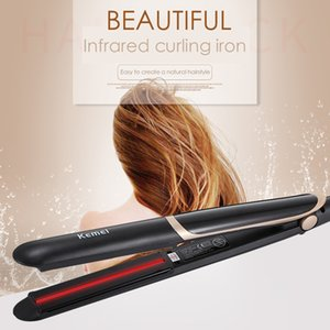 Wholesale Professional Hair Straightener Flat Iron Curler Negative Ion Infrared Hair Straightener with LED Screen for Women s Beauty