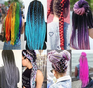 Wholesale jumbo braid hair Braiding hair synthetic Crochet braids twist inch g Ombre two tone braid hair extensions more colors FFL04