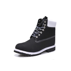 Original mens women winter boots chestnut black white red blue Grey green women mens designer boot High Top Martin outdoor on Sale