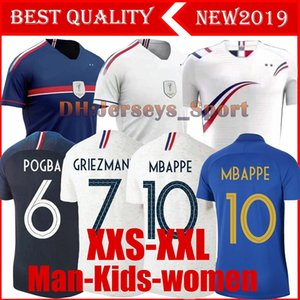 Wholesale NEW MBAPPE GRIEZMANN POGBA women men stars Soccer jersey Navy Football LEMAR shirts Equipe coupe girl kids maillot de foot kit