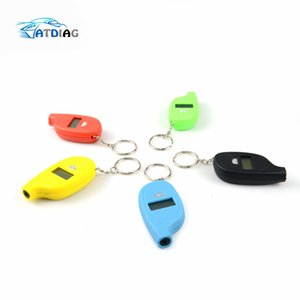 Wholesale Mini Digital Portable Keychain LCD PSI Tire Tyre Wheel Air Pressure Gauge Tester Procession Tool Tire Pressure Monitor
