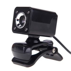Wholesale HD Webcam Mega Leds Night Vision CMOS USB Web Camera Digital Video Built in Microphone Degree Rotaion Clip on