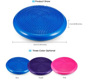33x33cm Durable Inflatable Yoga Massage Pad Universal Sports Gym Fitness Yoga Wobble Stability Balance Disc Cushion Mat on Sale
