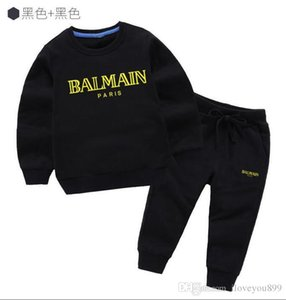 Wholesale 2019 New HOT SELL new children s clothing boys and girls sports suit baby infant long sleeved clothes children classic set years ol