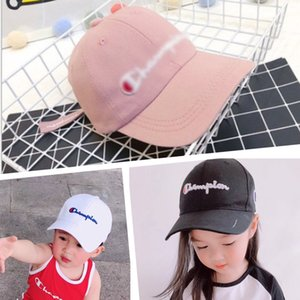 Wholesale INS Kids Champions Snapback Baseball Hat Boys Girls Adjustable Brand Peak Cap Sports Letters Embroidered Beach Travel Golf Hats sale B3142